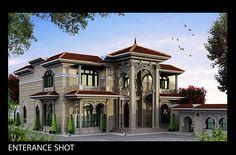 Classic  Villa exterior Client : Sheikh KhaledLocation : Ain Khaled , Doha , Qatar