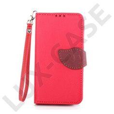 Theorin Nokia Lumia 630 Läder Flip Fodral - Röd