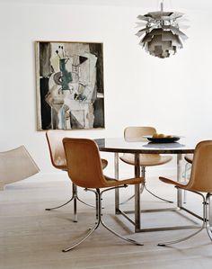 PK9 dining chair by Paul Kjærholm