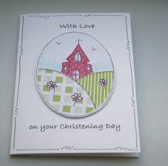 Little Church - Christening Day Card by Crafty Mushroom
