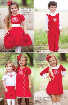Shrimp and Grits Kids Fall 15'' Catalog can you have too many red dresses?