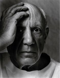 Pablo Picasso, Vallauris, France, 1954 by Arnold Newman (II)