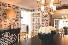 fornasetti plate accent wall pictures - Google Search