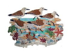 Janet Browne Textiles - Shore birds and the seaside
