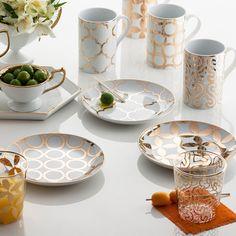 Rosanna Luxe Moderne Appetizer Plates Set of 4 @Zinc_Door