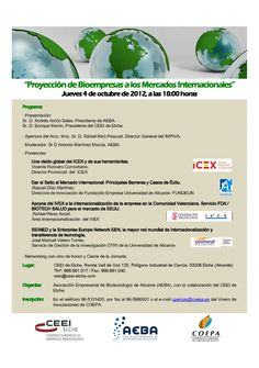 Proyección de Bioempresas a los Mercados Internacionales