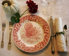 I like the rosemary napkin ring! anderson + grant: 32 Inspiring Thanksgiving Tablescapes