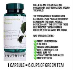Tegreen 6 cups of Green Tea Tegreen Capsules, Green Tea Capsules, Green Tea Benefits, Anti Aging Skin Care, How To Relieve Stress, Healthy Skin, Health And Wellness, Wellness Mama, Weight Loss