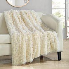 Chic Home Alaska Shaggy Faux Fur Supersoft Ultra Plush Throw Blanket