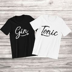 Couple Tshirts, Gin And Tonic, Cool Tees, Mens Tops, T Shirt, Supreme T Shirt, Tee Shirt, Cool Tee Shirts, Cool T Shirts