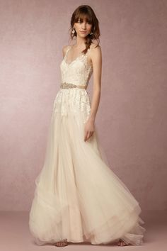 BHLDN and Anthropologie are close to our heart. This Reagan Gown from @BHLDN is positively radiant.