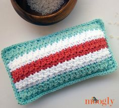 Mod Stripes Rice Bag - crochet pattern by Moogly! #diy #home #health #crafts #design #gifts