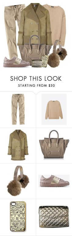 """Shearling Babe"" by tdwsammy ❤ liked on Polyvore featuring H&M, Zara, Topshop, CÉLINE, Overland Sheepskin Co., Valentino, Rebecca Minkoff, men's fashion and menswear"