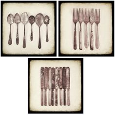 """something about the simplicity of old cutlery lined up """"just so"""""""