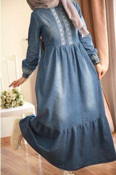 Modesty Fashion, Abaya Fashion, Muslim Fashion, Fashion Dresses, Sleeves Designs For Dresses, Prom Dresses With Sleeves, Nice Dresses, Mode Abaya, Mode Hijab