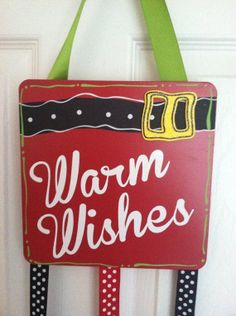 NEW Warm Wishes Merry Mail Christmas Card holder by dezinedtoat, $22.00