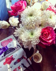 #flowers #fashionary #coffee