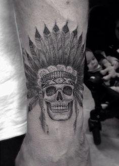 Native American Skull Tattoo