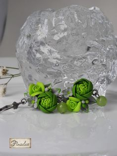 "Cercei ""Vis verde de primavară"" - Fimoclas Snow Globes, Home Decor, Decoration Home, Room Decor, Home Interior Design, Home Decoration, Interior Design"