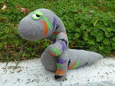Dino-sock in Halloween spirit.