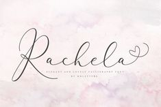 【Click for more】Rachela Lovely Calligraphy Font is perfect for branding, wedding invitations, magazines, mugs, business cards, quotes, posters, and more you can use on your big project would be very beautiful. [ad] #design #font