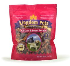 Kingdom Pets Premium Dog Treats, Chicken and Sweet Potato Jerky Twists, 48-Ounce Bag * For more information, visit image link.