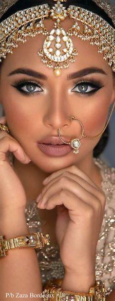 Exotic Beauties, Indian Bridal, Indian Beauty, Mehndi, Indian Fashion, Septum Ring, Desi, Classy, Elegant
