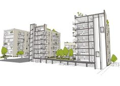 Royal Elm Park resi sketch