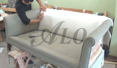 DIY: HOW TO REUPHOLSTER A FURNITURE WITH ROLL ARMS - ALOWORLD