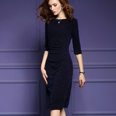 30% Off Your Fist Order! - $22.39 - Fashion Office Style Elegant Super Slim Bodycon Midi Dress - http://www.voguesus.com/en/bodycon-dresses/395-fashion-office-style-elegant-super-slim-bodycon-midi-dress.html