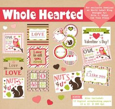These really wonderful DIY Valentines Day Printables and Labels are free to download. Design by Erin Rippy of Inktreepress.com Included in this Valentines day collection of printables is a DIY envelope with designed cards to fit, lots of different labels including round Valentines Day Labels and, a bonus free collection ...