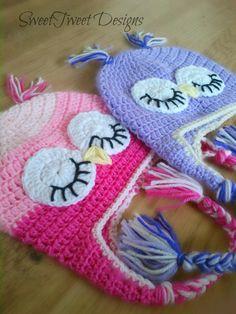 Hand Crochet Owl Animal Hat