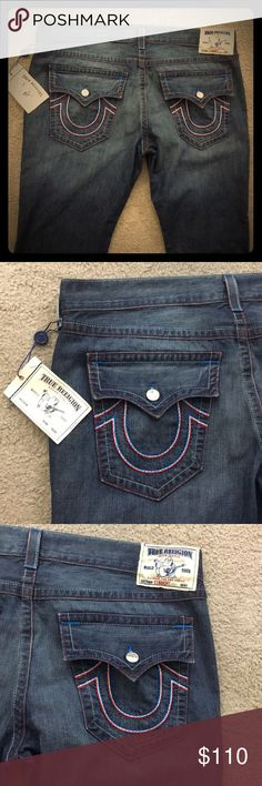 ✨True Religion jeans straight sz 42 x 34 nwt $266✨ Men's true religion jeans size 42×30 for Awesome jeans straight fit brand new with tags americana chain $266 epic jeans non-smoking home fast to livery at an excellent price get them today very sexy True Religion Jeans Straight