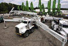 We love Concrete Pumps Heavy Duty Trucks, Big Rig Trucks, Heavy Truck, Dump Trucks, Tow Truck, Cool Trucks, Heavy Construction Equipment, Heavy Equipment, Custom Big Rigs