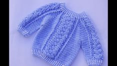 How to make a child's crochet sweater - YouTube