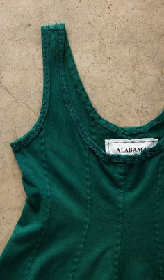 Alabama Chanin - Evergreen Panel Tank