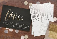 Love foil-pressed invitation from Minted - Stop by GWS for a HUGE wedding giveaway!