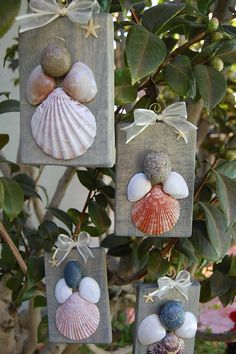 Sea Shell Angels by LagunaBeachcomber on Etsy