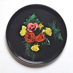 plateau Roses economats vintage - Deco Graphic