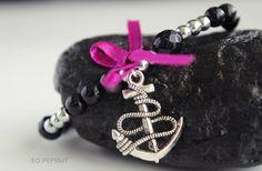 Stone hand - noc kairu  #sopeprmt #sopeppermint #jewelry #bracelet #anchor #bow #gemstones