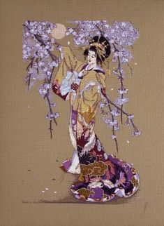Cross Stitch Craze: Elegant Oriental Cross Stitch Blossoms