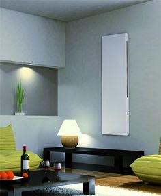 Vertical Wall-Mounted Electric Radiator - Deko Electric Radiators, Wall Mount, Living Room, Mirror, Lighting, Furniture, Design, Home Decor, Deco