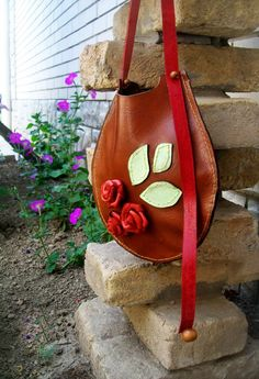 Lether, handmade bag.