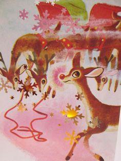 Vintage Rudolph the Rednosed Reindeer Christmas Luminary Bag (small size) Vintage Holiday Decor, Merry Christmas Present Christmas Deer, Christmas Past, Retro Christmas, Vintage Holiday, Christmas Goodies, Christmas Humor, Rudolph The Rednosed Reindeer, Vintage Humor, Saint Nicholas