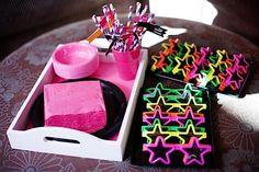 Kara's Party Ideas Girly Rock Star Girl Neon Dance Rockstar Birthday Party Planning Ideas