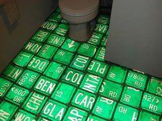 License plate floor