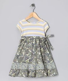 Mythereal Lavender Floral Tiered Dress - Toddler & Girls   zulily