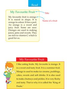 Grade 2 Descriptive Writing My Favourite Fruit Teaching English Grammar, English Writing Skills, English Reading, English Language Learning, English Vocabulary, English Stories For Kids, Moral Stories For Kids, English Worksheets For Kids, Learn English Words
