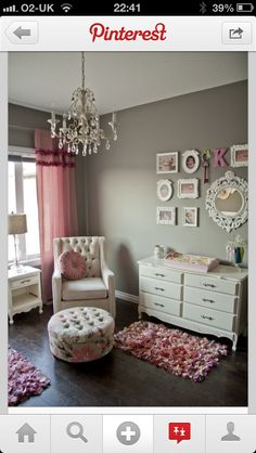Love the pink and grey