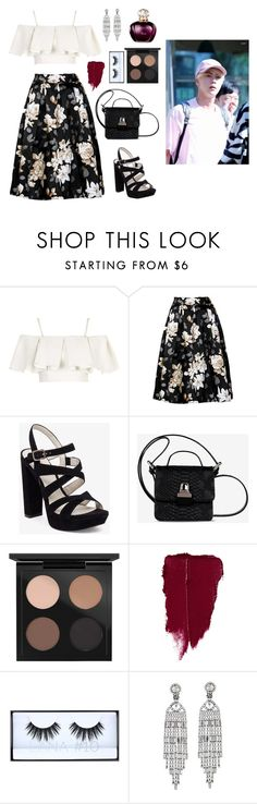 """""""Meeting your grandparents with Jin"""" by got7outfits ❤ liked on Polyvore featuring Topshop, BCBGeneration, MM6 Maison Margiela, MAC Cosmetics, Huda Beauty and Kenneth Jay Lane"""